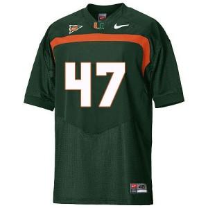 Miami Hurricanes Michael Irvin #47 Green Men Stitch Jersey Nike