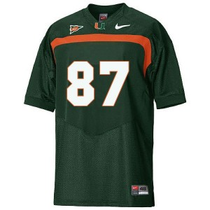 Miami Hurricanes Reggie Wayne #87 Green Men Stitch Jersey Nike