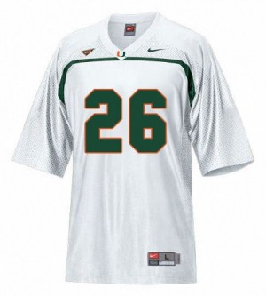 Men Miami Hurricanes #26 Sean Taylor White Nike Stitch Jersey