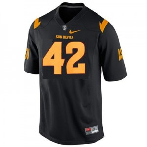Arizona State Sun Devils (ASU) Pat Tillman #42 Black Youth(Kids) Jersey Nike