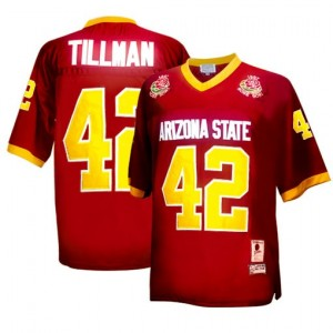 Nike Arizona State Sun Devils (ASU) #42 Pat Tillman Men Stitch Jersey - Red