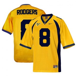 California Golden Bears Aaron Rodgers #8 Gold Men Stitch Jersey Nike