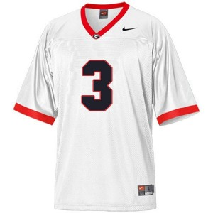 Youth(Kids) Georgia Bulldogs #3 Todd Gurley II White Nike Jersey
