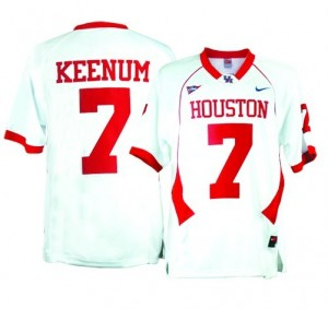 Youth(Kids) Houston Cougars #7 Case Keenum White Nike Jersey