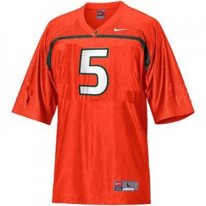 Miami Hurricanes Andre Johnson #5 Orange Youth(Kids) Jersey Nike