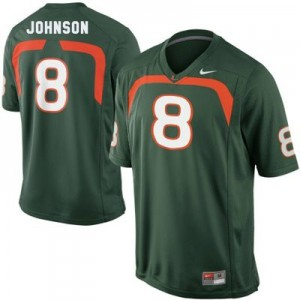 Miami Hurricanes Duke Johnson #8 Green Men Stitch Jersey Nike