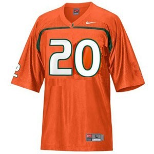 Miami Hurricanes Ed Reed #20 Orange Youth(Kids) Jersey Nike