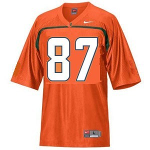 Miami Hurricanes Reggie Wayne #87 Orange Men Stitch Jersey Nike