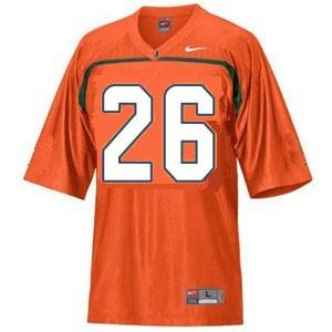 Miami Hurricanes Sean Taylor #26 Orange Men Stitch Jersey Nike