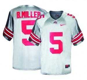 Ohio State Buckeyes Braxton Miller #5 Gray Men Stitch Jersey Nike