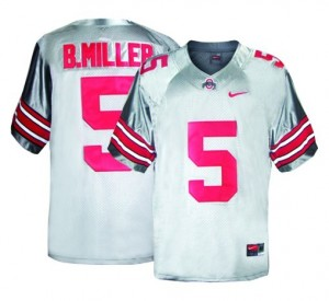Ohio State Buckeyes Braxton Miller #5 Gray Youth(Kids) Jersey Nike
