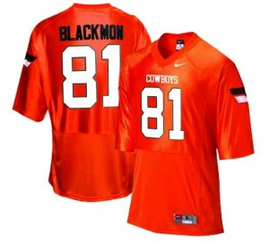 Nike Oklahoma State Cowboys #81 Justin Blackmon Youth(Kids) Jersey - Orange