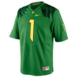 Oregon Ducks Josh Huff #1 Apple Green Men Stitch Jersey Nike