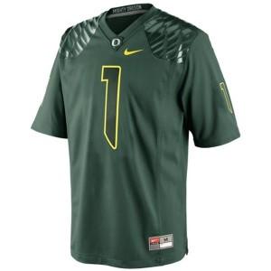 Oregon Ducks Josh Huff #1 Green Men Stitch Jersey Nike