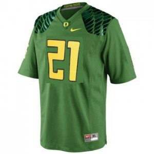 Oregon Ducks LaMichael James #21 Apple Green Men Stitch Jersey Nike