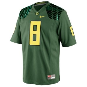 Oregon Ducks Marcus Mariota #8 Green Men Stitch Jersey Nike