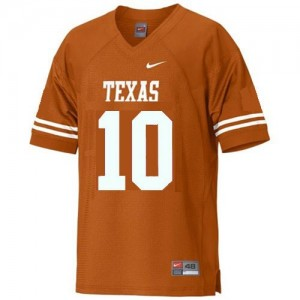 Texas Longhorns Vince Young #10 Orange Men Stitch Jersey Nike