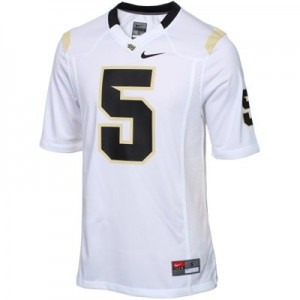 Men UCF Knights #5 Blake Bottles White Nike Stitched Jersey