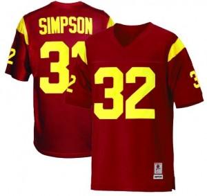 Nike USC Trojans #32 O.J. Simpson Men Stitch Jersey - Red
