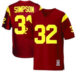 Nike USC Trojans #32 O.J. Simpson Youth(Kids) Jersey - Red