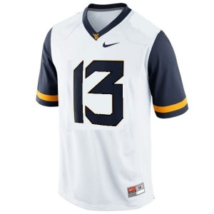 Men West Virginia Mountaineers #13 Andrew Buie White Nike Stitch Jersey