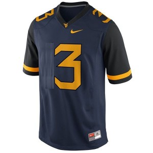 West Virginia Mountaineers Stedman Bailey #3 Blue Men Stitch Jersey Nike