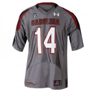 South Carolina Gamecocks Connor Shaw #14 Gray Youth(Kids) Jersey Under Armour