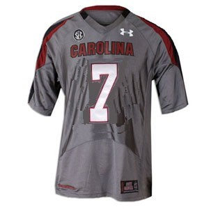 South Carolina Gamecocks Jadeveon Clowney #7 Gray Youth(Kids) Jersey Under Armour