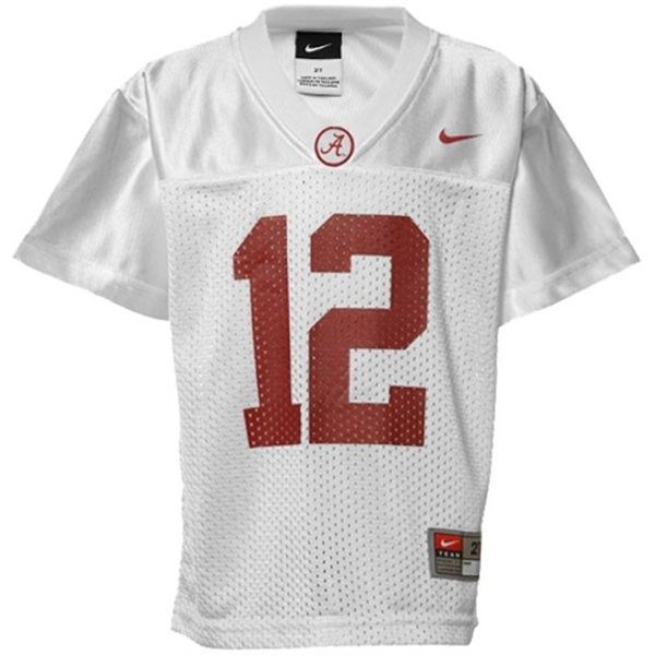 new style 1a3ee e04a4 Men Alabama Crimson Tide #12 Joe Namath White Nike Stitch Jersey