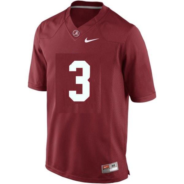 Nike Alabama Crimson Tide #3 Trent Richardson Men Limited Stitch Jersey - Red