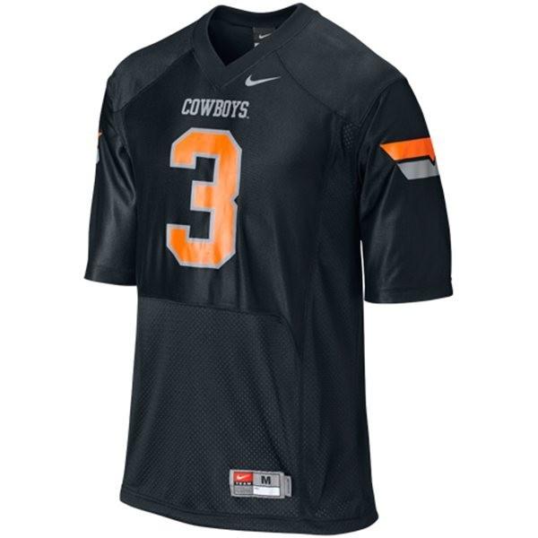 Oklahoma State Cowboys Brandon Weeden #3 Black Men Stitch Jersey Nike